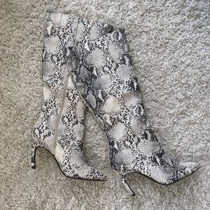 Shoes - snake print boots